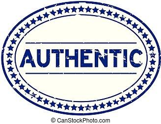 blauwe , grunge, postzegel, rubber, achtergrond, zeehondje, ovaal, witte , authentiek