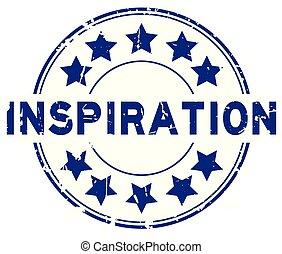 blauwe , grunge, postzegel, rubber, achtergrond, zeehondje, ster, witte , pictogram, ronde, inspiratie