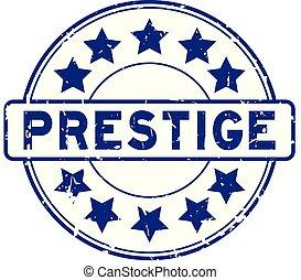 blauwe , grunge, postzegel, rubber, achtergrond, zeehondje, ster, witte , prestige, ronde, pictogram