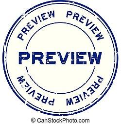 blauwe , grunge, postzegel, rubber, achtergrond, zeehondje, witte , preview, ronde