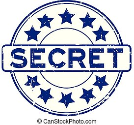 blauwe , grunge, postzegel, rubber, geheim, achtergrond, zeehondje, witte , ronde