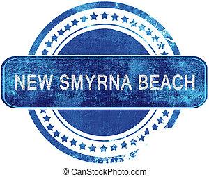 blauwe , grunge, smyrna, vrijstaand, stamp., white., nieuw, strand