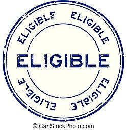 blauwe , grunge, verkiesbaar, postzegel, rubber, achtergrond, zeehondje, witte , ronde