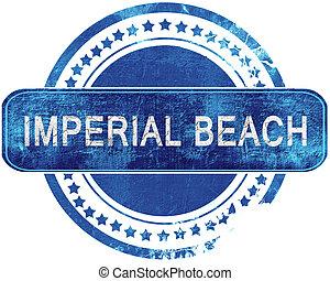 blauwe , grunge, vrijstaand, imperiaal, white., stamp., strand