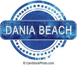 blauwe , grunge, vrijstaand, stamp., dania, white., strand