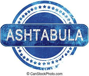 blauwe , grunge, vrijstaand, stamp., white., ashtabula