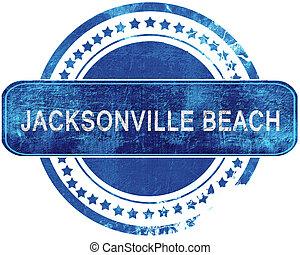 blauwe , grunge, vrijstaand, stamp., white., strand, jacksonville