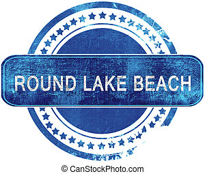 blauwe , grunge, vrijstaand, stamp., white., strand, meer, ronde
