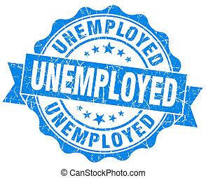 blauwe , grunge, werkloos, vrijstaand, zeehondje, witte