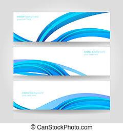 blauwe , header, abstract, vector, golf