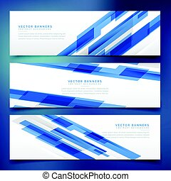 blauwe , headers, abstract, banieren, mal