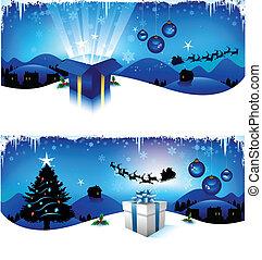 blauwe , headers, kerstmis