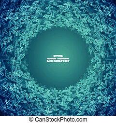 blauwe , helling, abstract, pijl, achtergrond., vorm, cirkel, technologie, futuristisch