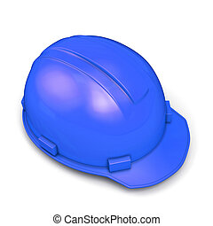 blauwe , helm, bouwsector