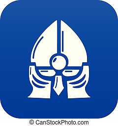 blauwe , helm, ridder, vector, historisch, pictogram