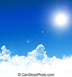 blauwe hemel, achtergrond