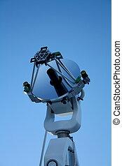 blauwe hemel, telescoop, optiical