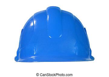 blauwe hoed, hard