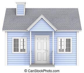 blauwe , house.
