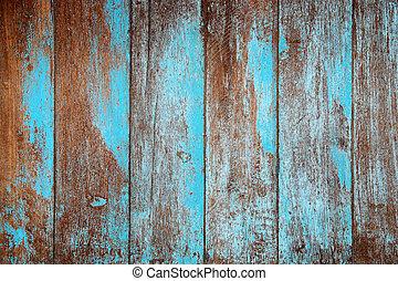blauwe , hout, oud, textuur