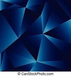 blauwe , illustratie, abstract, veelhoek, achtergrond