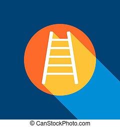 blauwe , illustration., oneindig, tangelo, licht, ladder, produced., cirkel, geel teken, achtergrond., helder, selectief, black , vector., marine, witte , koele schaduw, pictogram