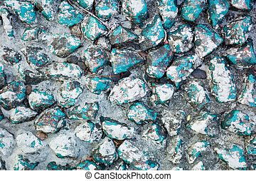 blauwe , india, rotsen