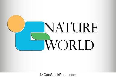 blauwe , inscriptie, hen, vector, blad, figuur, grijs, helling, abstract, natuur, illustratie, randen, groene, wereld, sinaasappel, logo, witte , schaduw, cirkel