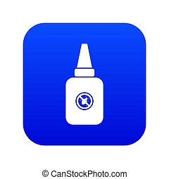 blauwe , insect, pictogram, verpulveren, digitale