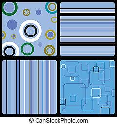 blauwe , jaren zeventig, behang