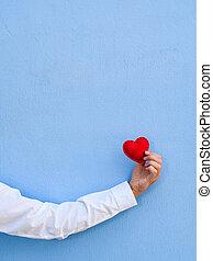 blauwe , kaart, dag, achtergrond, valentine