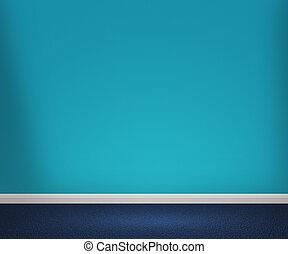 blauwe , kamer, achtergrond