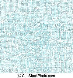 blauwe , kant, model, seamless, textiel, achtergrond, bloemen