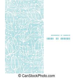 blauwe , kant, verticaal, model, frame, seamless, textiel, achtergrond, bloemen