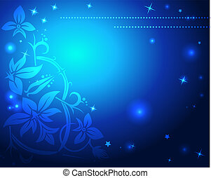 blauwe , kerstmis, achtergrond, abstract