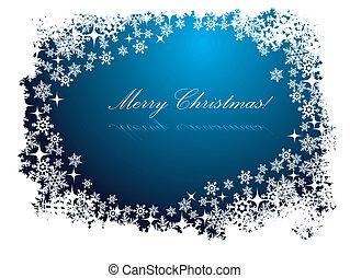 blauwe , kerstmis kaart