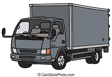 blauwe , kleine, vrachtwagen