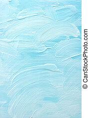 blauwe , kleur, acryl, achtergrond, textuur