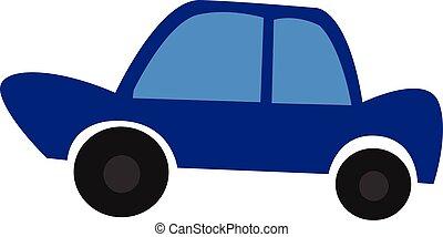 blauwe , kleur, auto, illustratie, vector, of