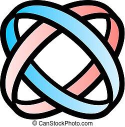 blauwe , kleur, symbool, rood, unie