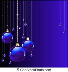 blauwe , kleuren, kerstmis