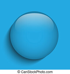 blauwe , knoop, glas, achtergrond, cirkel, rood