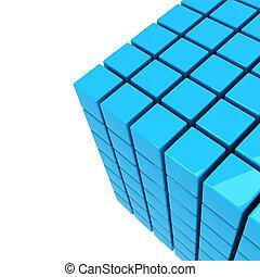 blauwe , kubus, achtergrond