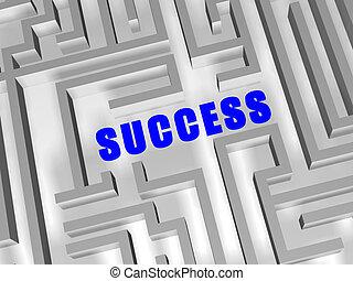 blauwe , labyrint, succes