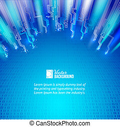 blauwe lichten, abstract, achtergrond