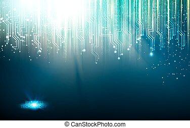 blauwe lichten, abstract, achtergrond.