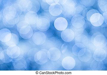 blauwe lichten, bokeh, defocused, achtergrond