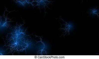 blauwe , lightning, akker
