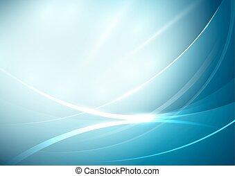 blauwe lijnen, abstract, bocht, achtergrond, zacht