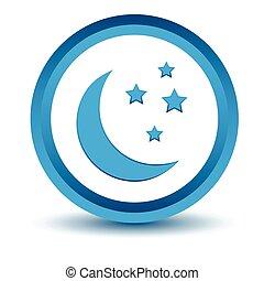 blauwe maan, pictogram
